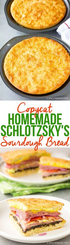 Copycat Homemade Schlotzsky's Sourdough Bread Recipe - An easy way to make this icon bubbly yeast sandwich bread at home! via @spicyperspectiv