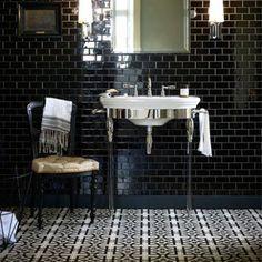 Black Gloss - Domino - Wall & Floor Tiles  | Fired Earth