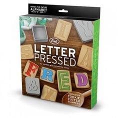 Letter Pressed Cookie Cutters from Fred & Friends ($20-50) - Svpply