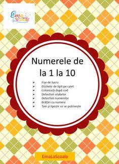 Worksheets Numbers 1 - 10 in Romanian Numbers 1 10, Thing 1, Printable Worksheets, Teaching, Activities, School, Education, Onderwijs, Learning