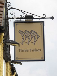 Three Fishes Sign, Shrewsbury