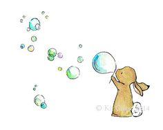 Una pieza encantadoramente caprichosa, diseñada para combinarse con su contraparte elefante burbujas. http://www.etsy.com/listing/52505216/Elephant-Bubbles-8X10-Archival-Print Una hermosa reproducción de mi pintura original, esta impresión de paisaje (horizontal) se realiza utilizando tintas Claria y un maravilloso papel mate Epson Premium (los cuales son probados y garantizados mancha, rayado, agua y descolórese resistente a 90 + años). Cada 5 x 7 y 8 x 10 impresió...