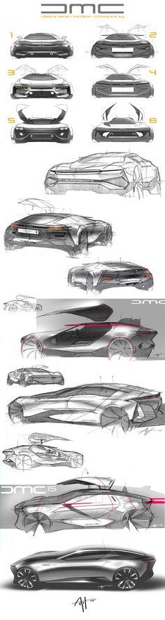 DeLorean sketches.. on Behance