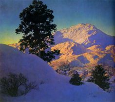 Maxfield Parrish   WInter Sunrise  1949