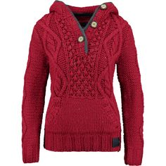 """""""Superdry"""" Red Cable Hooded Pullover - TK Maxx"""