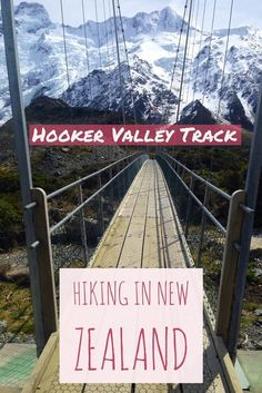 How to plan a trip to the stunning Hooker Valley Track in New Zealand...how to get there, itinerary advice, tips on visiting Hooker Valley Trail on the South Island. A must on your New Zealand itinerary! #newzealand #hiking #hookervalley #aoraki #glacierlake