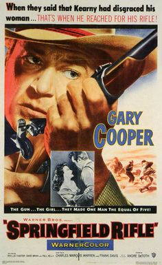 SPRINGFIELD RIFLE (1953) - Gary Cooper - Directed by Andre de Toth - Warner Bros. - Movie Poster.