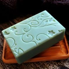 Spearmint Scented Soap created on an impression mat.  Plan for 2016 is to make a…