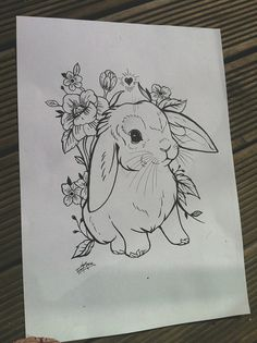 Cute as hell - love a lop bunny design. Plus more florals - bonus