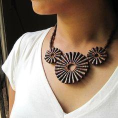 Rustic Treasure Necklace 1st anniversary gift door PaperMelon