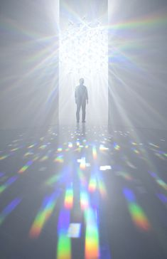 """archatlas: """"Spectrum by Tokujin Yoshioka The Shiseido Gallery will hold an exhibition of a new installation by Tokujin Yoshioka. This installation will show light that fills the room with infinite. Shizuka Joestar, Light And Space, Glitch Art, Light Installation, Sculpture, Light Art, Color Theory, Light And Shadow, Oeuvre D'art"""