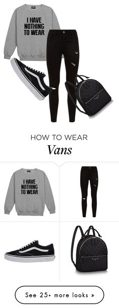"""sorry i´m late to cool class"" by itzelmaldonado on Polyvore featuring Vans, vans, jeans and myfav"