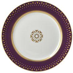 Coffret 4 assiettes 21cm en porcelaine de la collection Soleil levant couleurs Bernardaud