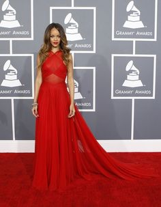 Is It possible? Rihanna really looks good in this Azzedine Alaia gown | The Only 10 Outfits From The Grammys You Need To Bother LookingAt