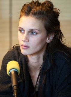 Marine Vacth being interviewed for RTS, 2013.