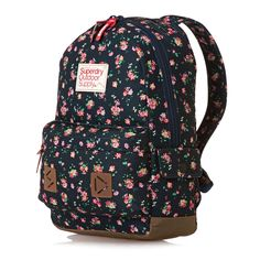 Superdry Stem Floral Montana Backpack - Navy