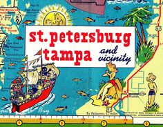 RETRO FLORIDA: Gulf Oil Road Map Detail Vintage Florida, Old Florida, Florida Vacation, Usa Road Map, Road Maps, Florida Style, Florida Girl, Tampa Bay Fl, Map Compass