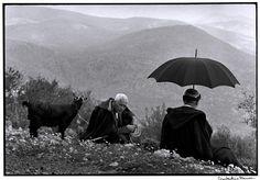 """© Constantine Manos/Magnum Photos GREECE. Crete. 1964. Shepherds with goat. """"A Greek Portfolio"""""""