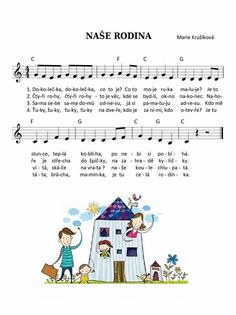 Rodina Kids Songs, My Family, Classroom, Education, School, Musica, Songs, Nursery Songs, Families