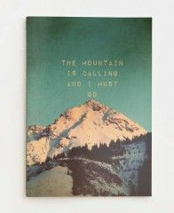 Mountain is calling-Stationary Notizheft