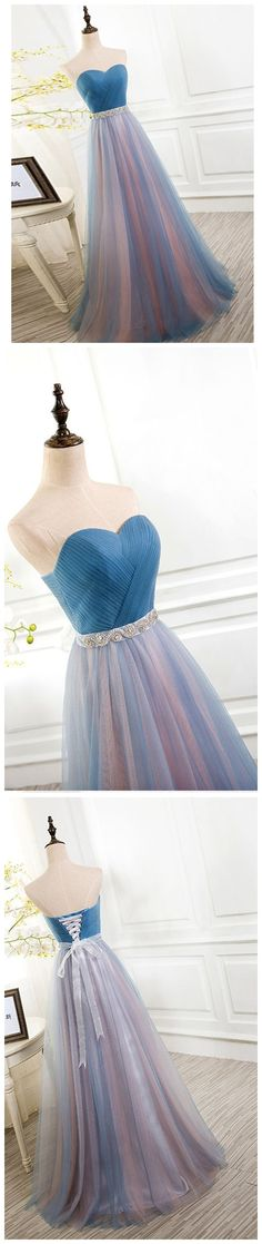 A-line prom dresses,Sweetheart Floor Length Tulle Evening Dress Prom Dresses