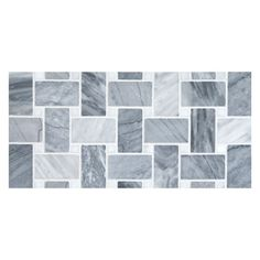 Basketweave Mosaic Tile   Polished Bardiglio Turno With Carrara Dots