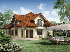 Projekat kuće sa potkrovljem i garažom – Minor Boutique Hotel Bedroom, House Construction Plan, Bungalow House Plans, Design Case, Little Houses, Small Houses, Marmaris, Home Fashion, Portal