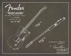 1951-fender-telecaster-guitar-patent-art-in-white-chalk-on-gray-nishanth-gopinathan.jpg (900×713)