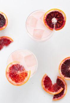Blood Orange & Rose Creamsicle Cocktail - Sugar & Cloth
