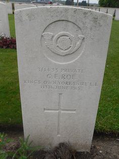 Private G.Roe shot at dawn for desertion on10/06/1915 and buried in Perth Cemetery (China Wall) 3km east of Ypres .
