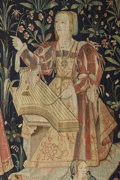 "Tapestry ""Le Concert"" (detail) I Paris Medieval Music, Medieval Art, Renaissance Art, Les Gobelins, Medieval Tapestry, Medieval Manuscript, Art Moderne, Technical Drawing, Tapestry Weaving"