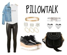 """PILLOWTALK"" by anaelle2 ❤ liked on Polyvore featuring Yves Saint Laurent, Balmain, STELLA McCARTNEY, Chloé, ASOS, Charlotte Russe, Hermès and Cartier"