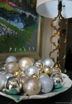 Vinings Home Christmas Tour Atlanta Christmas Home Tours, Christmas Home Tours 2014 Christmas Home, Christmas Bulbs, Christmas Decorations, Christmas Vignette, Painted Chandelier, Seasonal Decor, Holiday Decor, Advent, Ball Ornaments