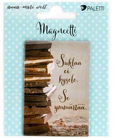 Magneetit - Magneetti Suklaa - Hyvän Tuulen Puoti