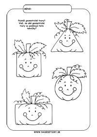 Tekvica - geometrické tvary - Jesenné pracovné listy