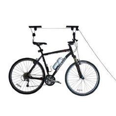 RAD Cycle Products Heavy Duty Bike Lift Hoist For Garage Storage Capacity Mountain Bicycle Hoist