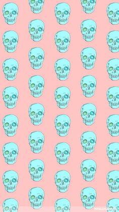 Skulls wallpaper. Phone.