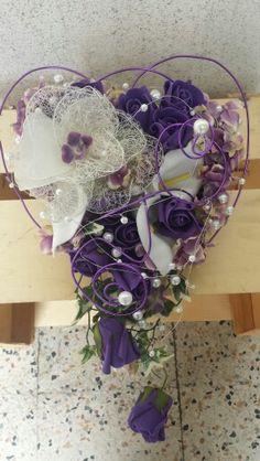 Cadbury purple wedding bouquet