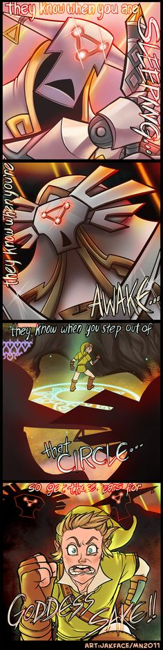 LOZ:SS - GUARDIANS ARE HUNTING YOU DOWN by *jakface on deviantART (Haha!)