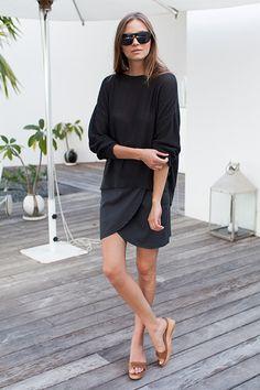 Portia Skirt - Slate | Emerson Fry