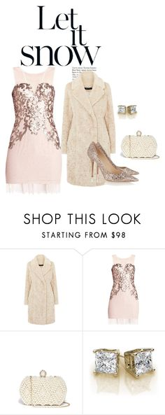"""""""Winter Party Outfit"""" by ecreativeliving on Polyvore featuring BCBGMAXAZRIA, GUESS by Marciano and Jimmy Choo"""