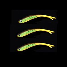 ozuzu (TM) 3�12�cm/8.4�g PVC Soft Tiddler Bait Fluke Fisch Angeln lockt Salzwasser K�der Tackle Gr�n/Schwarz/Blau