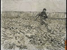 Van Gogh drawing-the relationship between his drawings and paintings is so strong.