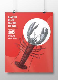F L O R A . C H O U — Hampton Beach Seafood Festival Poster