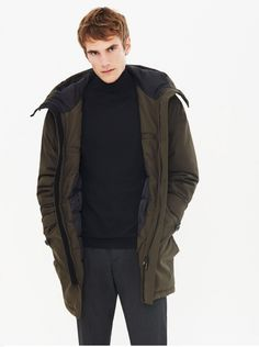 cdc2a66b Zara Man hood outerwear mid coat | Zara Winter Coat - Tradingbasis Weird  Fashion, Modern