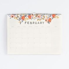 This calendar from Rifle Paper Co. is the definition of beautiful simplicity. With a write-on grid for appointments and a notes section down the right side of each month, it's wonderfully practical. E