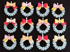 Puzzle Wreaths from Recycled Papers - freshly found