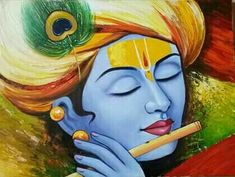 Discover recipes, home ideas, style inspiration and other ideas to try. Shiva Art, Krishna Art, Hare Krishna, Krishna Mantra, Krishna Images, Oil Pastel Paintings, Indian Art Paintings, Ganesha Painting, Buddha Painting