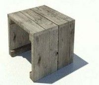 Laag bijzettafeltje van steigerhout, de bouwtekening staat onderaan de pagina.