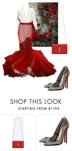 """""""lovelyhard"""" by namelif ❤ liked on Polyvore featuring Jean-Paul Gaultier, Yves Saint Laurent and Christian Louboutin"""